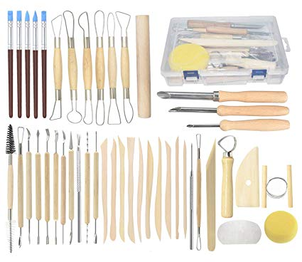 pottery and clay sculpting tools