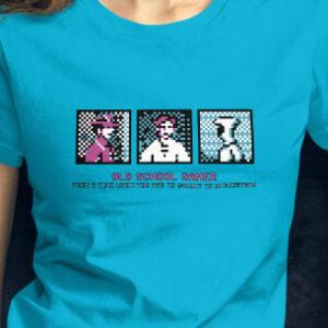 women tshirt dos retro game
